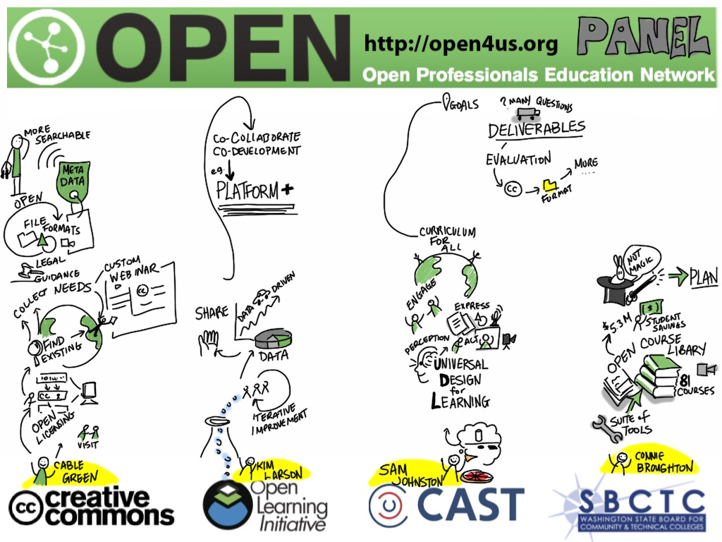 OPEN panel graphic recording