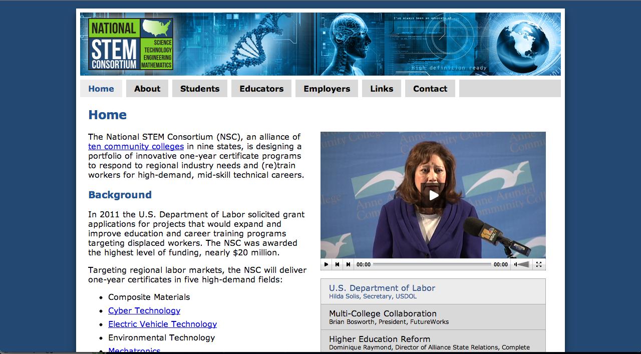 National STEM Consortium Webpage