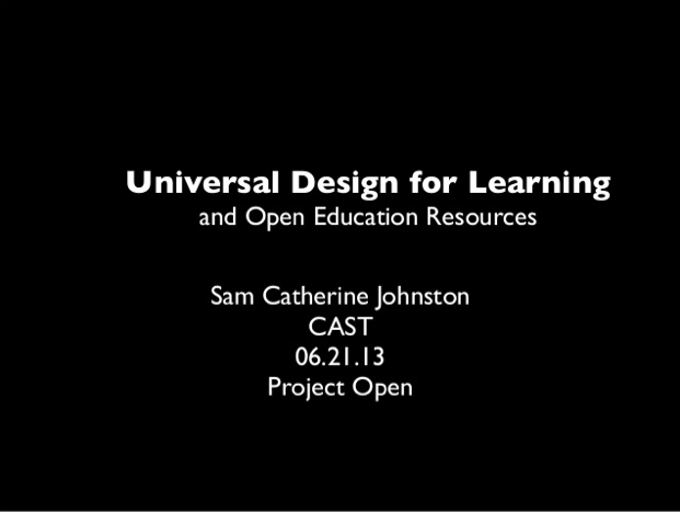 Sam Johnston CAST UDL Presentation