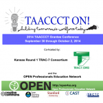 TAACCCT ON Conference Flyer